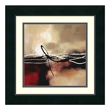 Amanti Art – Imprimé encadré « Symphony in Red and Khaki II » par Laurie Maitland, 18 x 18 po (DSW01183)