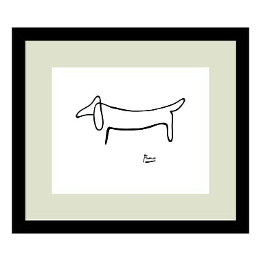 Amanti Art Framed Art Print 'Le Chien (The Dog)' by Pablo Picasso, 15