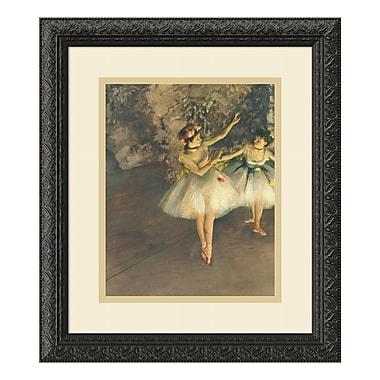 Amanti Art – Imprimé encadré Two Dancers on Stage, 1874, par Edgar Degas, 14 x 16 po (DSW01089)