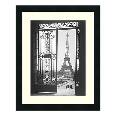 Amanti Art – Imprimé encadré The Eiffel Tower From The Trocadero, 1925, par Gall, 18 x 22 po (DSW01064)