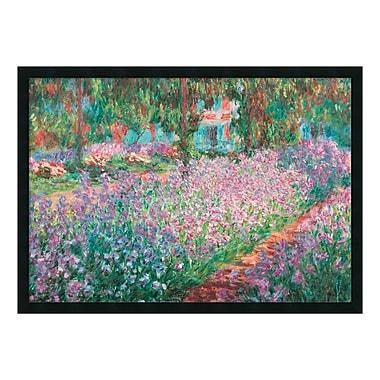 Amanti Art – Imprimé encadré « Le jardin de Monet à Giverny » par Claude Monet, 38 x 26 po (DSW577254)