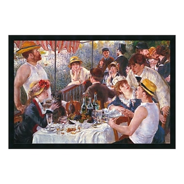 Amanti Art – Imprimé encadré Luncheon of the Boating Party, 1881, par Pierre-Auguste Renoir, 38 x 26 po (DSW577187)