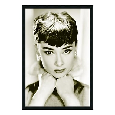 Amanti Art – Impression encadrée Audrey Hepburn - Sepia, 26 x 38 po (DSW577238)