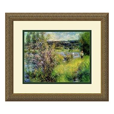 Amanti Art – Imprimé encadré « La Seine à Chatou » par Pierre-Auguste Renoir, 18 x 15 po (DSW574574)
