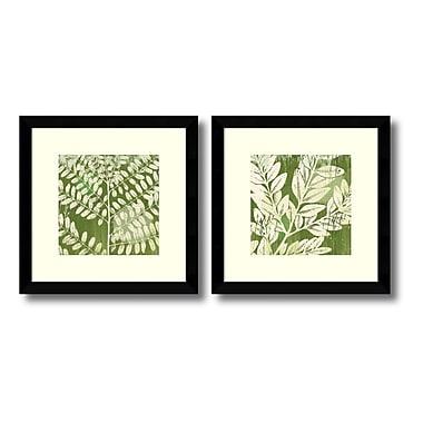 Amanti Art – Imprimé encadré « Leaves » par Erin Clark, 13 x 13 po, 2/paquet (DSW406543)