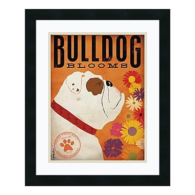 Amanti Art – Imprimé encadré, Bulldog Blooms par Stephen Fowler, 18 x 22 po (DSW578883)