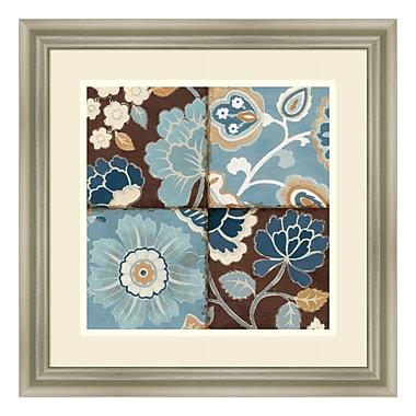 Amanti Art – Imprimé encadré « Patchwork Motif Blue II » par Alain Pelletier, 18 x 18 po (DSW579077)