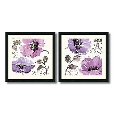 Amanti Art – Imprimé encadré « Floral Waltz Plum » par Pela Studio, 24 x 24 po, 2/paquet (DSW950754)