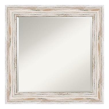 Amanti Art ? Miroir mural carré, blanc délavé Alexandria
