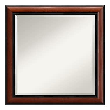 Amanti Art ? Miroir mural carré, acajou Regency