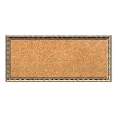 Amanti Art Framed Cork Board Panel, Fluted Champagne, 33