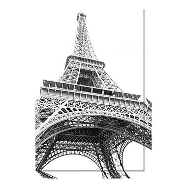 Amanti Art Canvas Art Gallery Wrap 'Eiffel up Close' by Laura Marshall, 20