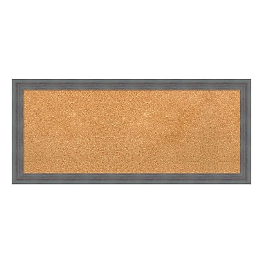 Amanti Art Framed Cork Board Panel, Dixie Grey Rustic, 32