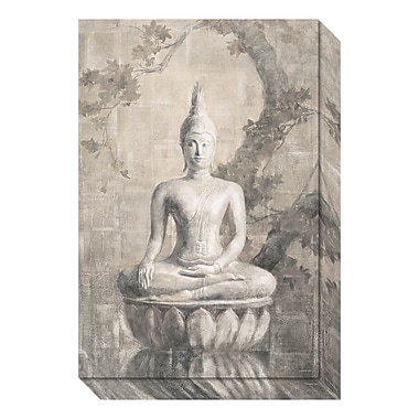 Amanti Art Canvas Art Gallery Wrap 'Buddha Neutral' by Danhui Nai, 16