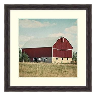Amanti Art Framed Art Print 'Blissful Country VI Crop (Barn)' by Elizabeth Urquhart, 29