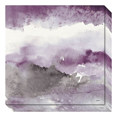 Amanti Art – Toile de galerie « Midnight at the Lake III Amethyst and Grey » par Mike Schick, 20 x 20 po (DSW3642813)