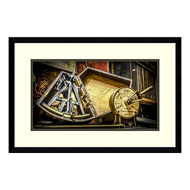 Amanti Art Framed Art Print 'Sextant' by Matt Marten, 27