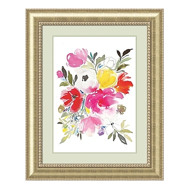 Amanti Art Framed Art Print 'Pink Expression (Floral)' by Joy Ting, 33