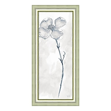 Amanti Art – Imprimé encadré, « Solitary Dogwood III Gray (Floral) » par Chris Paschke, 19 x 40 po (DSW3926489)