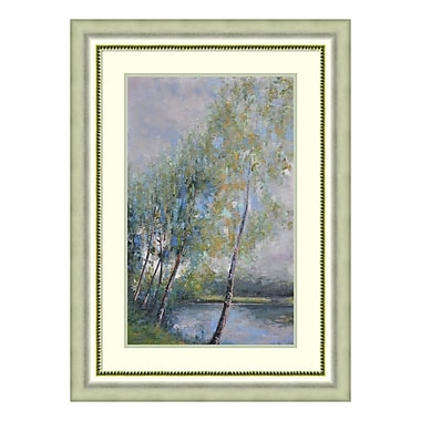 Amanti Art Framed Art Print 'Poetry on Riverbank' by Clement Nivert, 25