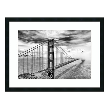 Amanti Art – Imprimé encadré, Into the Abyss (Golden Gate) par Dave Gordon, 32 x 24 po(DSW3909441)