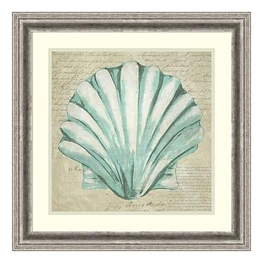 Amanti Art – Impression encadrée « Coquillage et écume de mer II » par Chariklia Zarris, 23 x 23 po (DSW3906535)