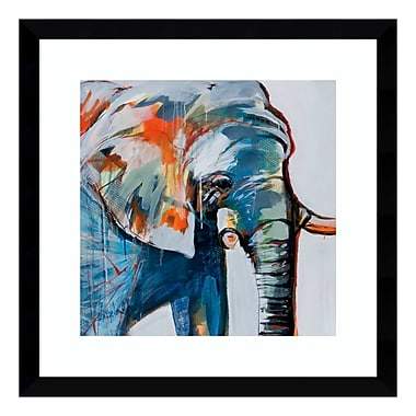Amanti Art – Impression encadrée « Mr. Silver Hair (Elephant) », par Angela Maritz, 17 haut. x 17 long. (po) (DSW3902619)