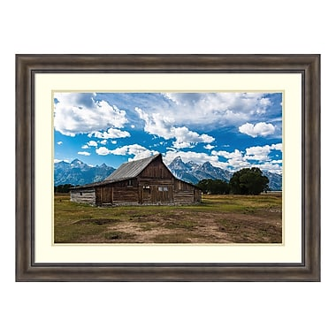 Amanti Art Framed Art Print 'Grand Teton Barn I' by Tim Oldford, 48