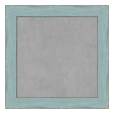Amanti Art Framed Magnetic Board Small Square, Sky Blue Rustic, 15