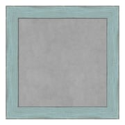 Amanti Art Framed Magnetic Board Small Square, Sky Blue Rustic