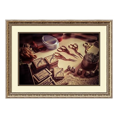 Amanti Art Framed Art Print 'Old World Sewing' by Matt Marten, 27