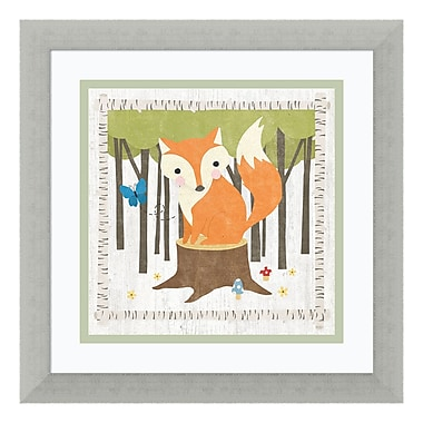 Amanti Art Framed Art Print 'Woodland Hideaway Fox' by Moira Hershey, 14