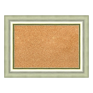 Amanti Art Framed Cork Board Small, Vegas Burnished Silver, 23