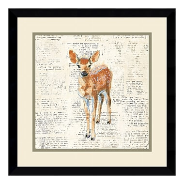 Amanti Art Framed Art Print 'Into the Woods III no Border (Deer)' by Emily Adams, 17