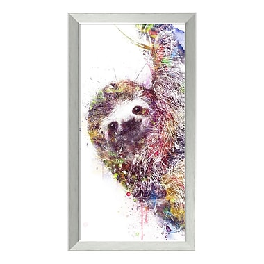 Amanti Art Framed Art Print 'Sloth' by Veebee, 14