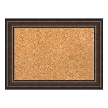 Amanti Art Framed Cork Board Medium, Cyprus Walnut, 29