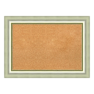 Amanti Art Framed Cork Board Medium, Vegas Burnished Silver, 29