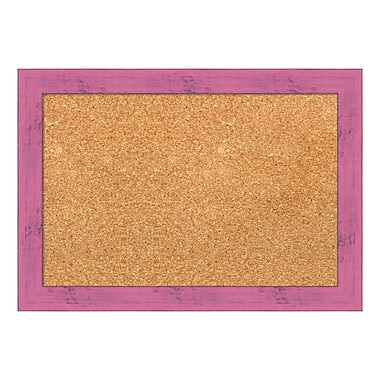 Amanti Art Framed Cork Board Small, Petticoat Pink Rustic, 20