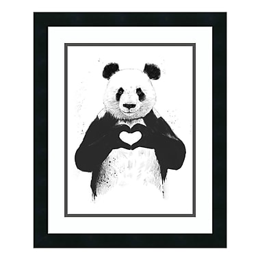 Amanti Art Framed Art Print 'All You Need Is Love (Panda)' by Balazs Solti, 18