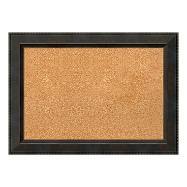 Amanti Art Framed Cork Board Medium, Signore Bronze, 29