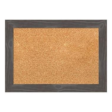 Amanti Art Framed Cork Board Small, Woodridge Rustic Grey, 21