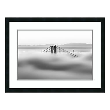 Amanti Art Framed Art Print 'Across the Bay BW (Golden Gate)' by Dave Gordon, 32