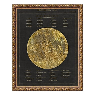 Amanti Art Framed Art Print 'Astronomical Chart I (Moon)' by Wild Apple Portfolio, 20