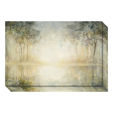 Amanti Art Canvas Art Gallery Wrap 'Morning Mist' by Julia Purinton, 24
