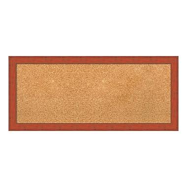 Amanti Art – Tableau en liège encadré, panneau, orange bourbon rustique, 32 x 14 po (DSW3907396)
