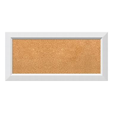 Amanti Art Framed Cork Board Panel, Blanco White, 34