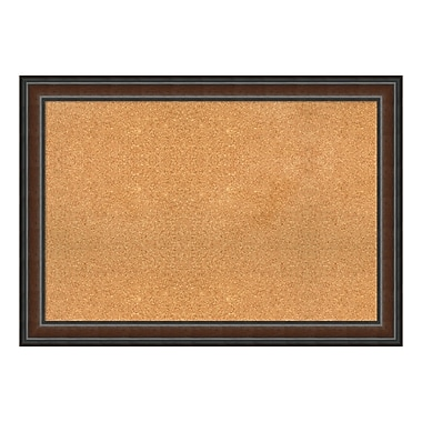 Amanti Art Framed Cork Board Extra Large, Cyprus Walnut, 41