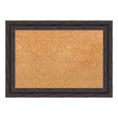 Amanti Art Framed Cork Board Small, Rustic Pine, 21