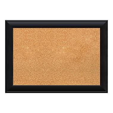 Amanti Art Framed Cork Board Medium, Nero Black, 28