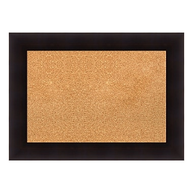 Amanti Art Framed Cork Board Medium, Portico Espresso, 30